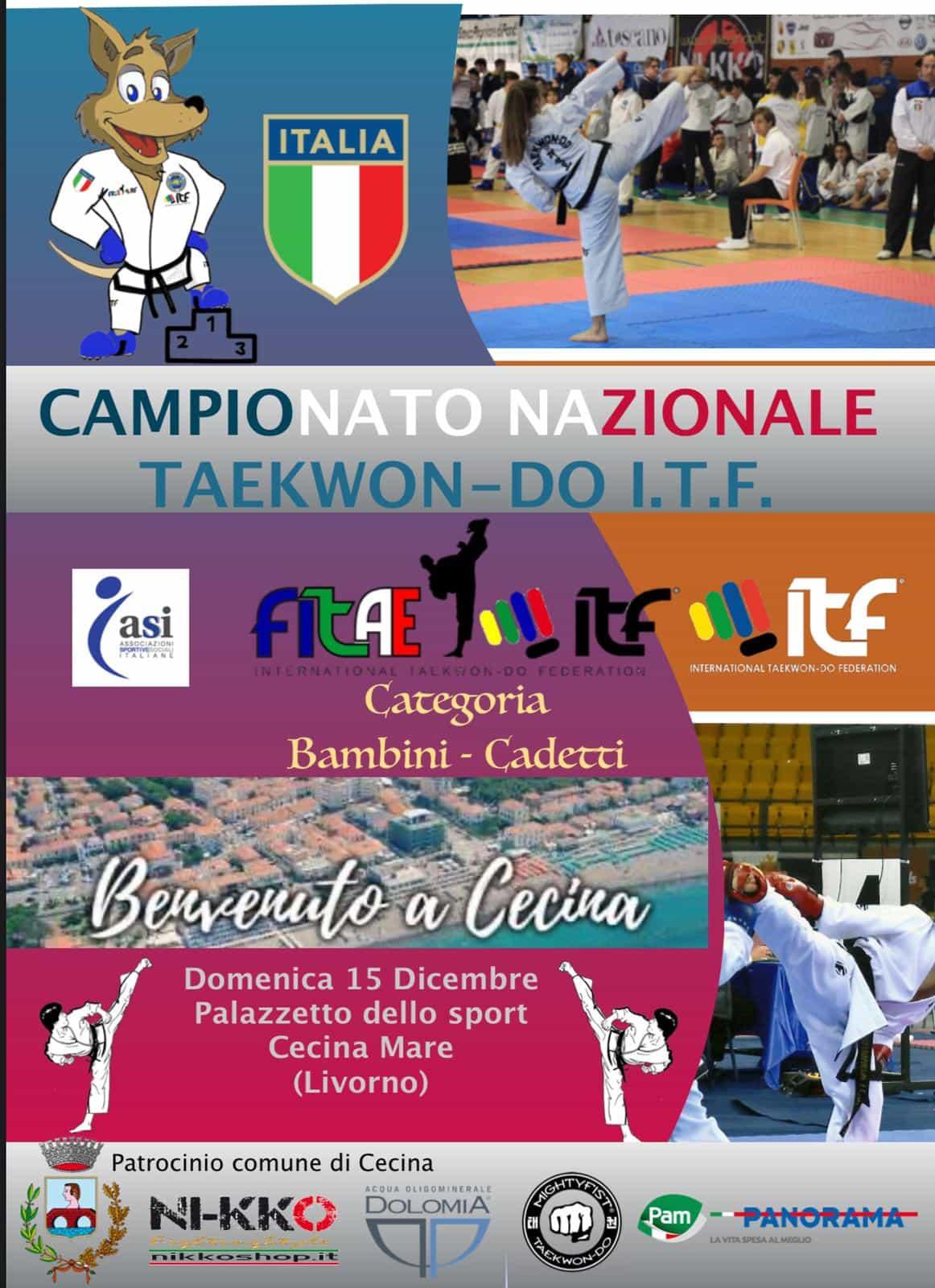 CAMPIONATO NAZIONALE BAMBINI E CADETTI Cecina (LI), 15/12/2019