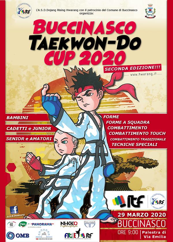 2° BUCCINASCO TAEKWON-DO<br> CUP 2020 <BR> BUCCINASCO (MI), 29/03/2020