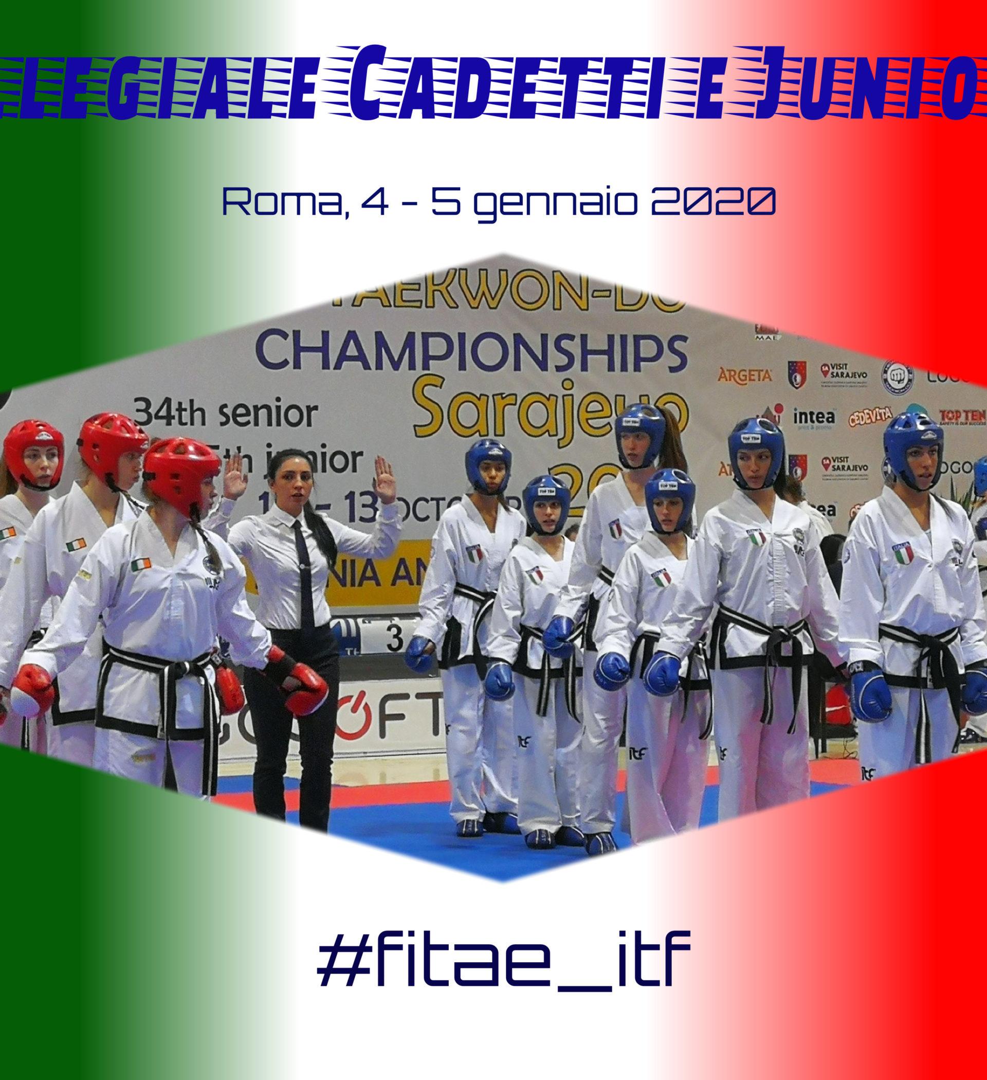 COLLEGIALE COMBATTIMENTO<br> CADETTI E JUNIORES<br> Roma, 4-5/01/2020<br/>