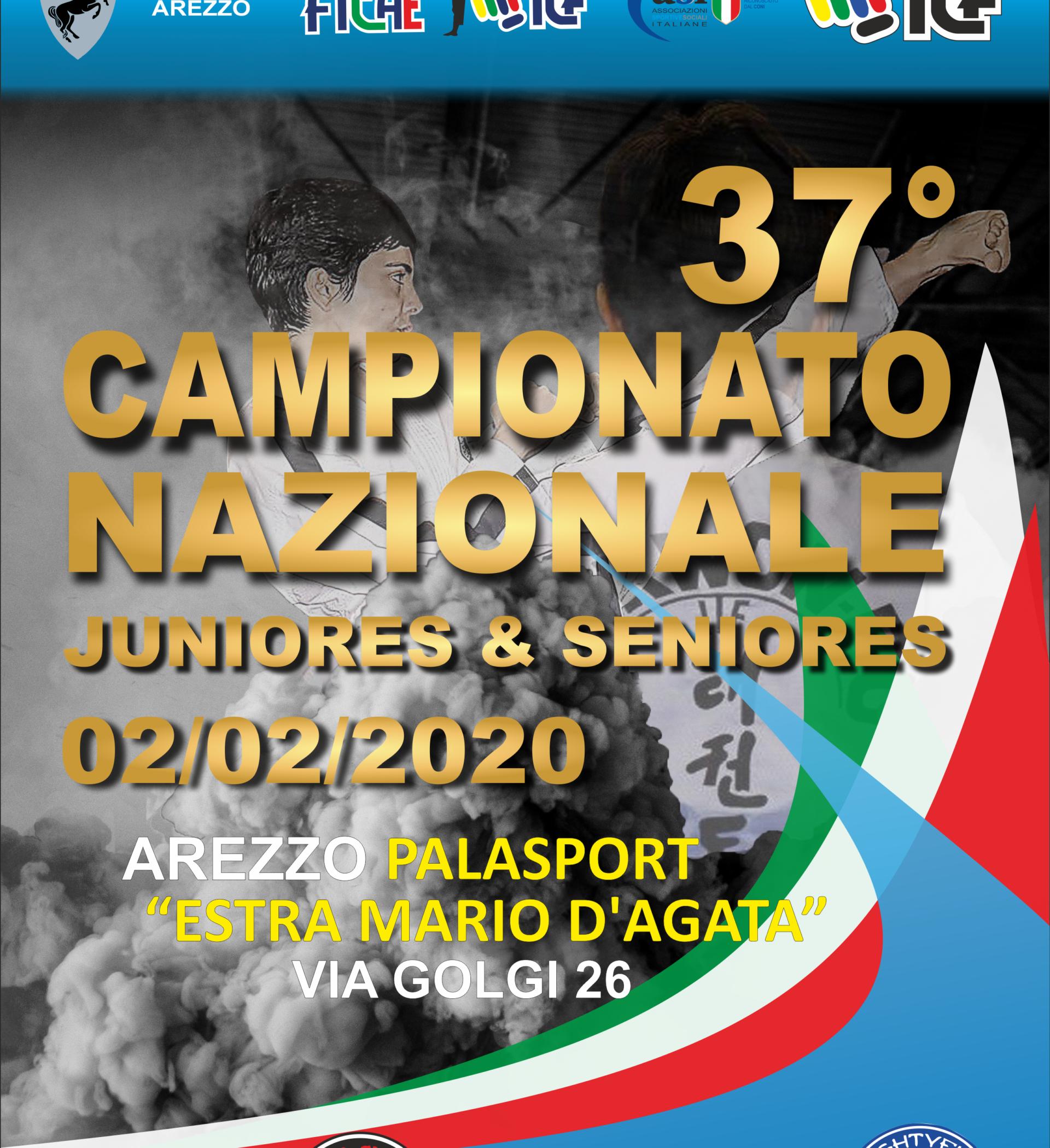CAMPIONATO NAZIONALE<BR> JUNIORES E SENIORES<BR> AREZZO, 02/02/2020