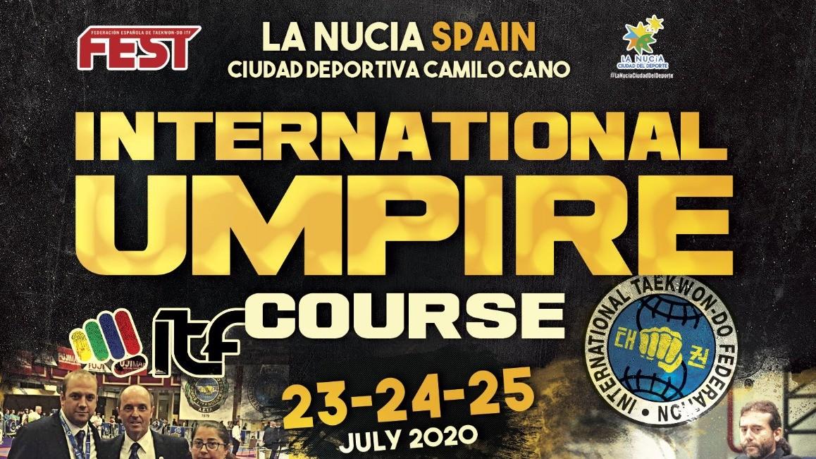 INTERNATIONAL UMPIRE COURSE<BR> BENIDORM (SPAIN) 23-25/07/2020<BR> CANCELLATO