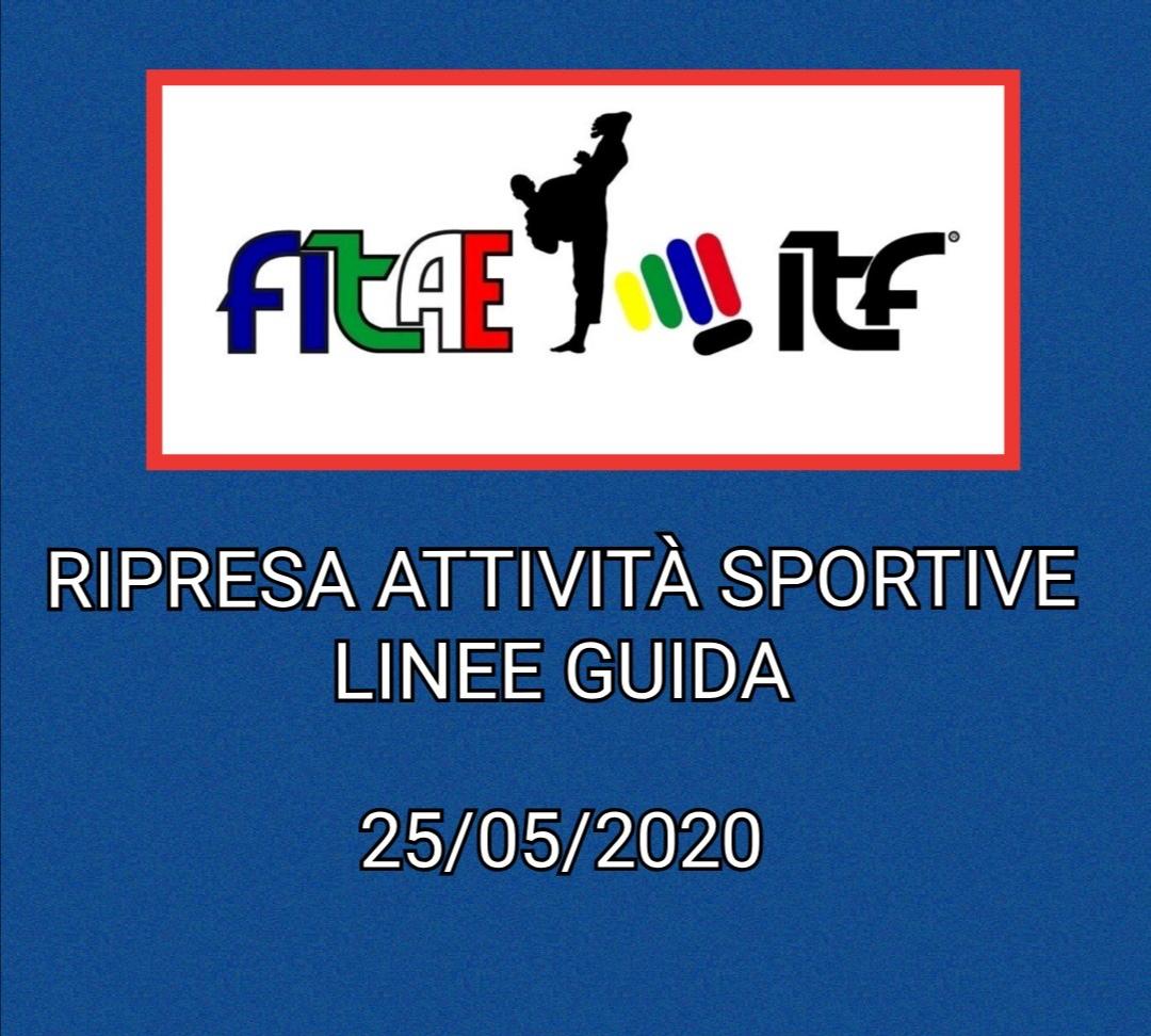 LINEE GUIDA<BR> RIPRESA ATTIVITA' SPORTIVE<BR> 25/05/2020
