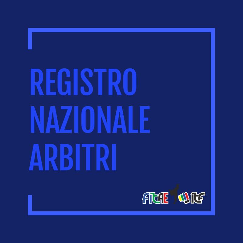 REGISTRO NAZIONALE ARBITRI<BR> R.N.A.<BR> 08/09/2020
