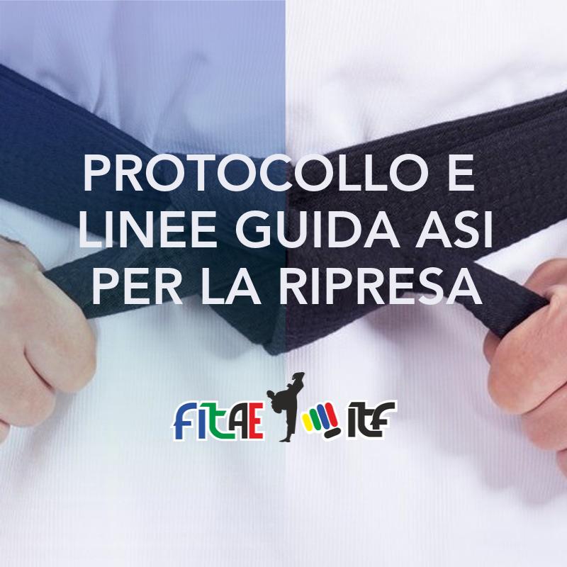 LINEE GUIDA ASI<BR> PER LA RIPRESA<br> 30/08/2020