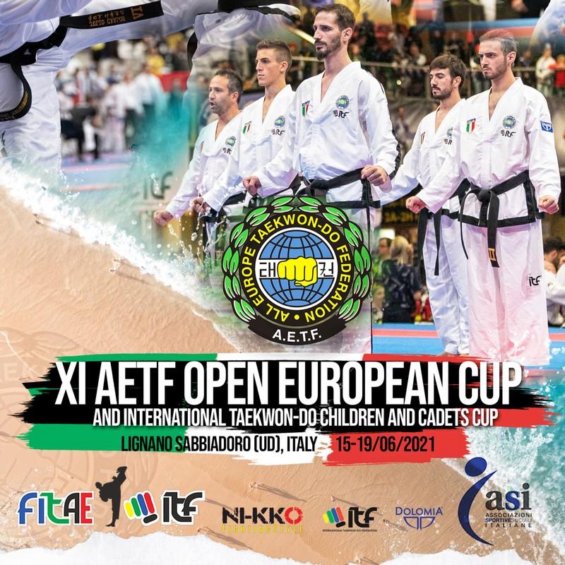XI AETF OPEN EUROPEAN CUP 2021<BR> LIGNANO SABBIADORO (UD), 15-19/06/2021