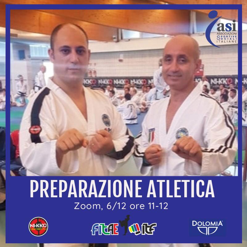 ALLENAMENTO AGONISTI<BR> PREPARAZIONE FISICA<BR> ZOOM, 6/12/2020