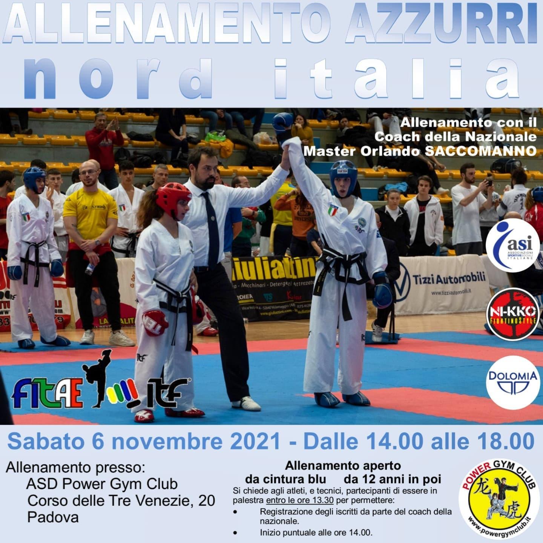 ALLENAMENTO AZZURRI<BR> NORD ITALIA<BR> PADOVA, 06/11/2021