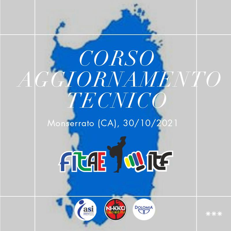 CORSO AGGIORNAMENTO TECNICO<BR> MONSERRATO (CA)<BR> 30/10/2021